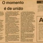 O MOMENTO E DE UNIAO